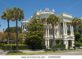 victorian house style battery victorian house style architecture charleston stock photo