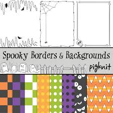 spooky clip art halloween borders skeleton clip art halloween