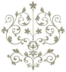 Damask Wall Decor Nouveau Damask Wall Art Decal Kit Contemporary Wall Decals