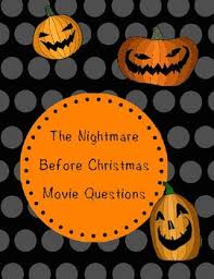 nightmare christmas movie questions la prof geek