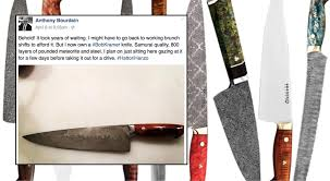 bob kramer knife anthony bourdain finally got his bob kramer knife