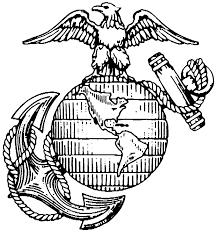 usmc logo black and white marcia richards