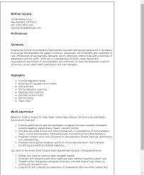 Example Of Healthcare Resume by Professional Clinical Documentation Improvement Specialist