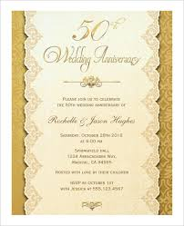 50th wedding anniversary greetings anniversary card template 12 free sle exle format