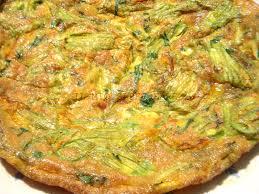 ricette con fiori di zucchina al forno frittata di fiori di zucca al forno