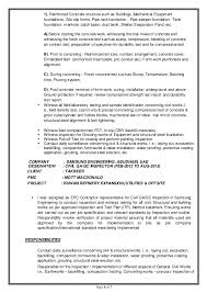 Embedded Engineer Resume Sample by Qa Qc Civil Engineer Resume Sample Contegri Com