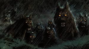 halloween phtoshop background werewolf wallpapers