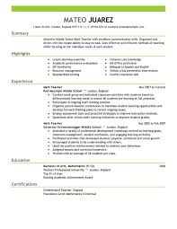 teacher resume example eliolera com