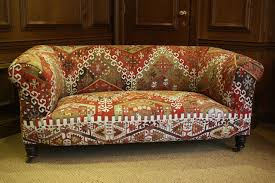 Chesterfield Sofa Uk by Kelim Kilim Upholstered Antique Chesterfield By Leather Chairs Of