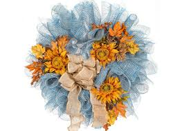 sunflower mesh wreath our 5 favorite fall wreaths pat catan s