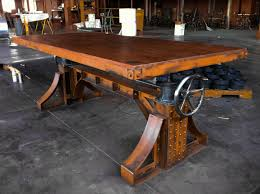 Expensive Wood Dining Tables Fabulous Ly Expensive Vintage Industrial Crank Desk Bronx