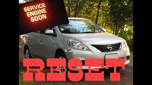 service engine soon light nissan sentra how to reset service engine soon light on a 2012 nissan versa