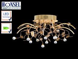 Esszimmer Lampe Messing Led Deckenlampe ø 75cm Messing U0026 Klares Glas Deckenleuchten