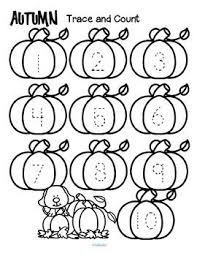 freebie fall trace and count free here are three fall themed