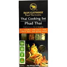 elephant cuisine blue elephant cooking set phad rice noodles with sauce