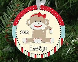 sock monkey ornament etsy