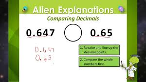 Compare Numbers Worksheet Comparing Decimals 5th Grade Education Galaxy Youtube