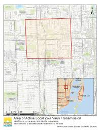 South Florida Map by Locally Transmitted Zika Virus Cases Found In New Area In Florida
