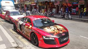 wrapped r8 singham wrapped audi r8 shitty car mods