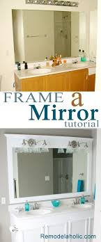 framed bathroom mirrors ideas 1000 ideas about framed bathroom mirrors on easy