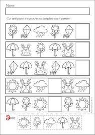 pattern math worksheets preschool patterns spring patterns worksheets worksheets spring and patterns