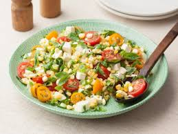 fresh corn tomato salad recipe food network kitchen food network