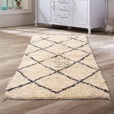 small moroccan rug beni ourain tribal rug shag pile natural