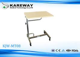 hospital style bedside table hospital tray table on sales quality hospital tray table supplier