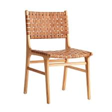 Dining Leather Chair Woven Leather Dining Chair Wisteria