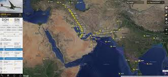 Qatar Airways Route Map by Doha Atc And Qatar Airways Overcome Arabian Airspace Restrictions
