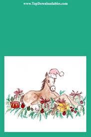 printable horse christmas cards free printable horse christmas cards
