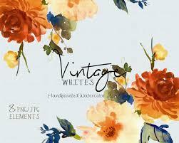 wedding flowers clipart digital clipart watercolor flower clipart vintage clip