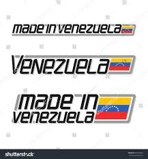 Latin Country Flags Vector Illustration Logo Made Venezuela Three Stock Vector