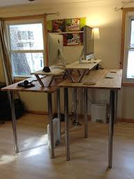 Diy Stand Up Desk Ikea Diy Adjustable Standing Desk Plans Creative Desk Decoration