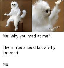 Im Mad At You Meme - me why you mad at me them you should know why i m mad me funny