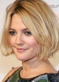 textured bob hairstyles 2013 comedy actress drew barrymore looks gorgeous with her thick