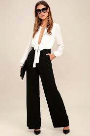 formal jumpsuit black and white jumpsuit wide leg jumpsuit 76 00