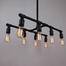 vintage linear black chandelier u003e 209 99 water pipe design eight