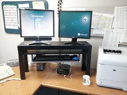 Ikea Stand Desk 25 Standing Desk Hack From Lack Tv Unit Summera Ikea Hackers