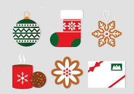 free flat christmas vector elements download free vector art