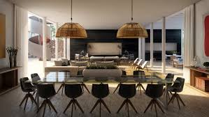Crystal Chandeliers For Dining Room Rectangular Black Polished Wooden Dining Table White Modern Dining