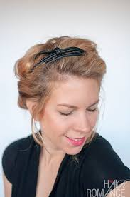headband roll curly hairstyle tutorial rolled headband updo hair
