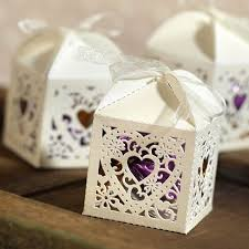 25ct square die cut wedding favor boxes target