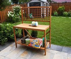 amazon com foldable potting bench garden u0026 outdoor