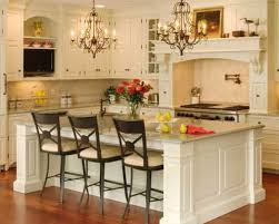 kitchen with white counter and simple kitchen islands with seating
