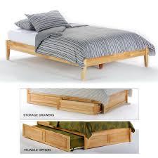 Bed Frames Storage Wooden Platform Bed Frames Wood Frame With Storage King