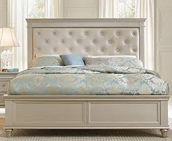 Silver Queen Bed Upholstered Queen Sized Beds