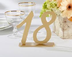 Gold Table L As Gold Classicwood Table Numbers Ecopartytime