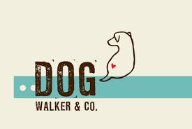 dog walking logo template inkd