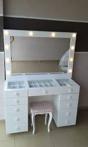 make up dressers diy vanity mirror with lights for bathroom and makeup station